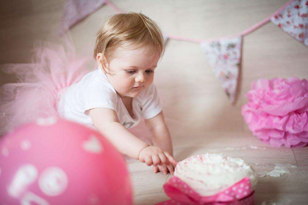 Pink Cake Smash Shoot