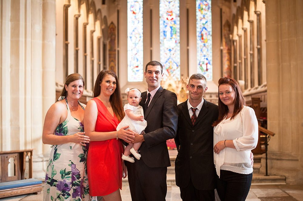Photo of Parents Godparents at Ringwood Church Christening