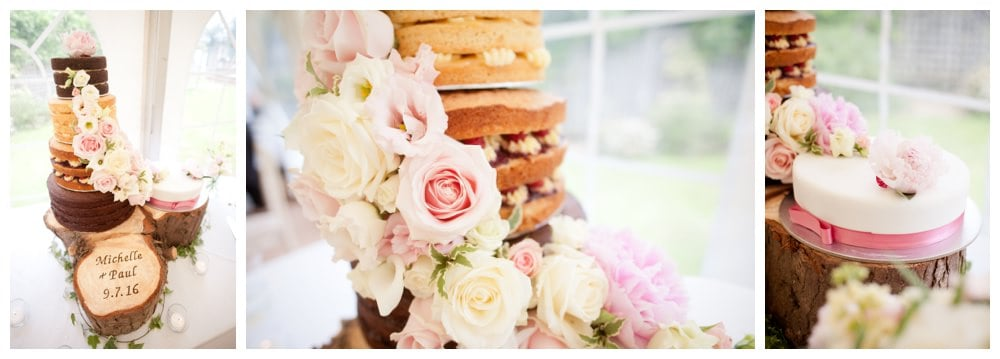 Rustic Floral Naked Cake at Balmer Lawn Hotel