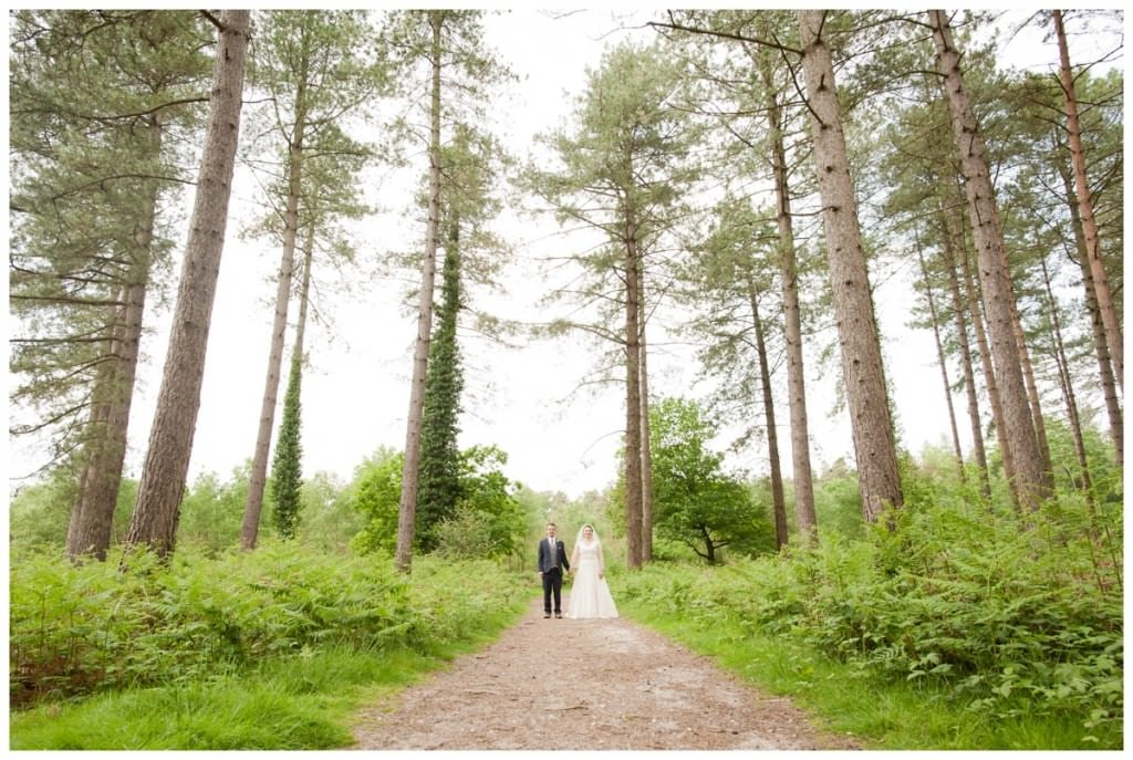 Bride and Groom at Ringwood Forest