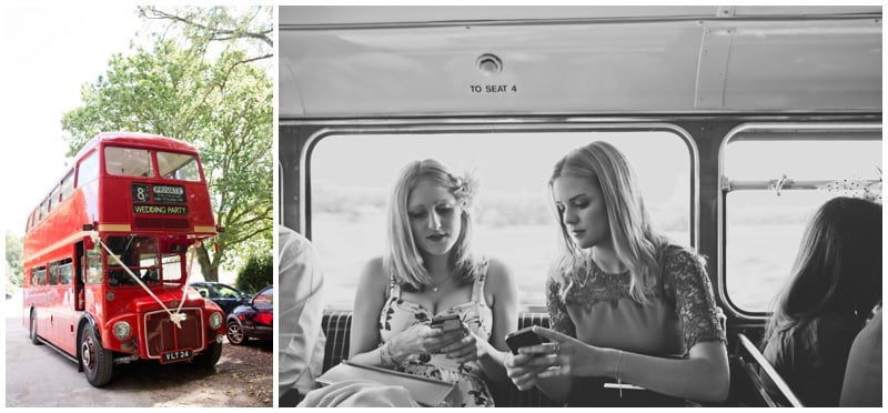 New Forest Red Vintage Wedding Bus