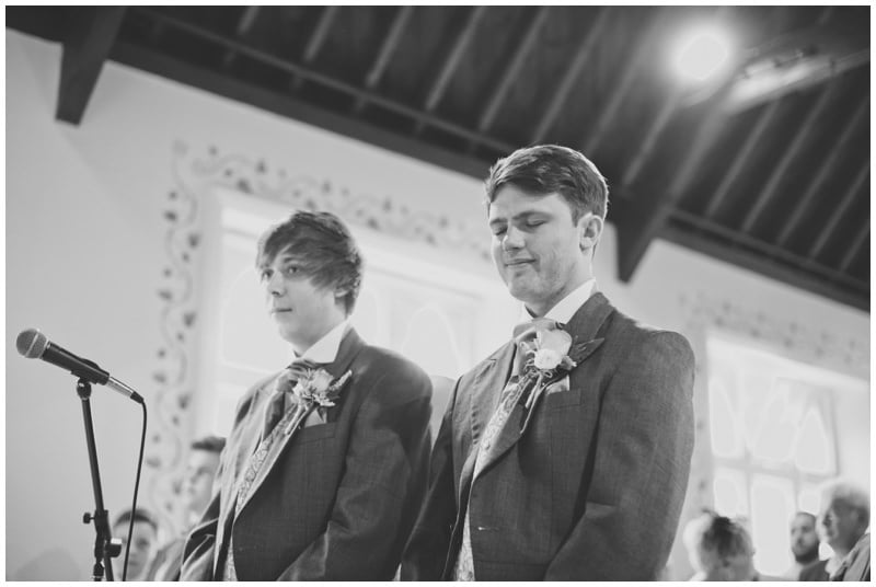 Photograph of groom at Crowe Hill Church wedding Ringwood