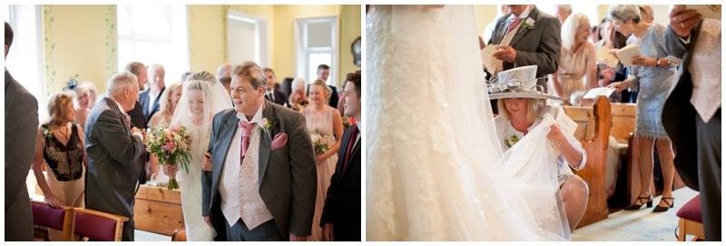 Bride walking down aisle in Ringwood