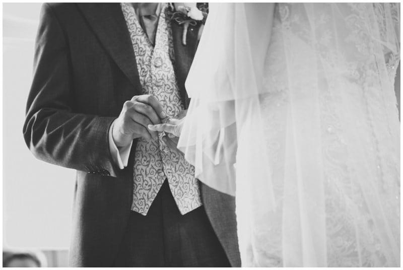 Exchanging rings at Crowe Church