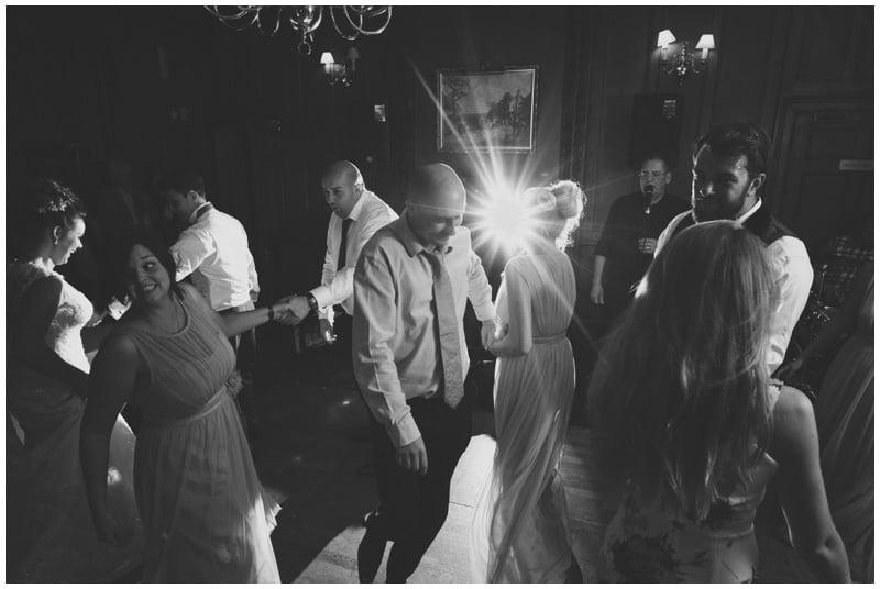 Ceilidh at Tyrrells Ford Hotel ringwood wedding