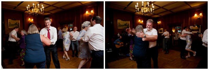 Ceilidh at Wedding Reception at Tyrrells Ford Hotel