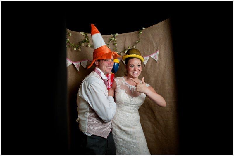 Wedding photobooth at Tyrrells Ford Hotel Ringwood