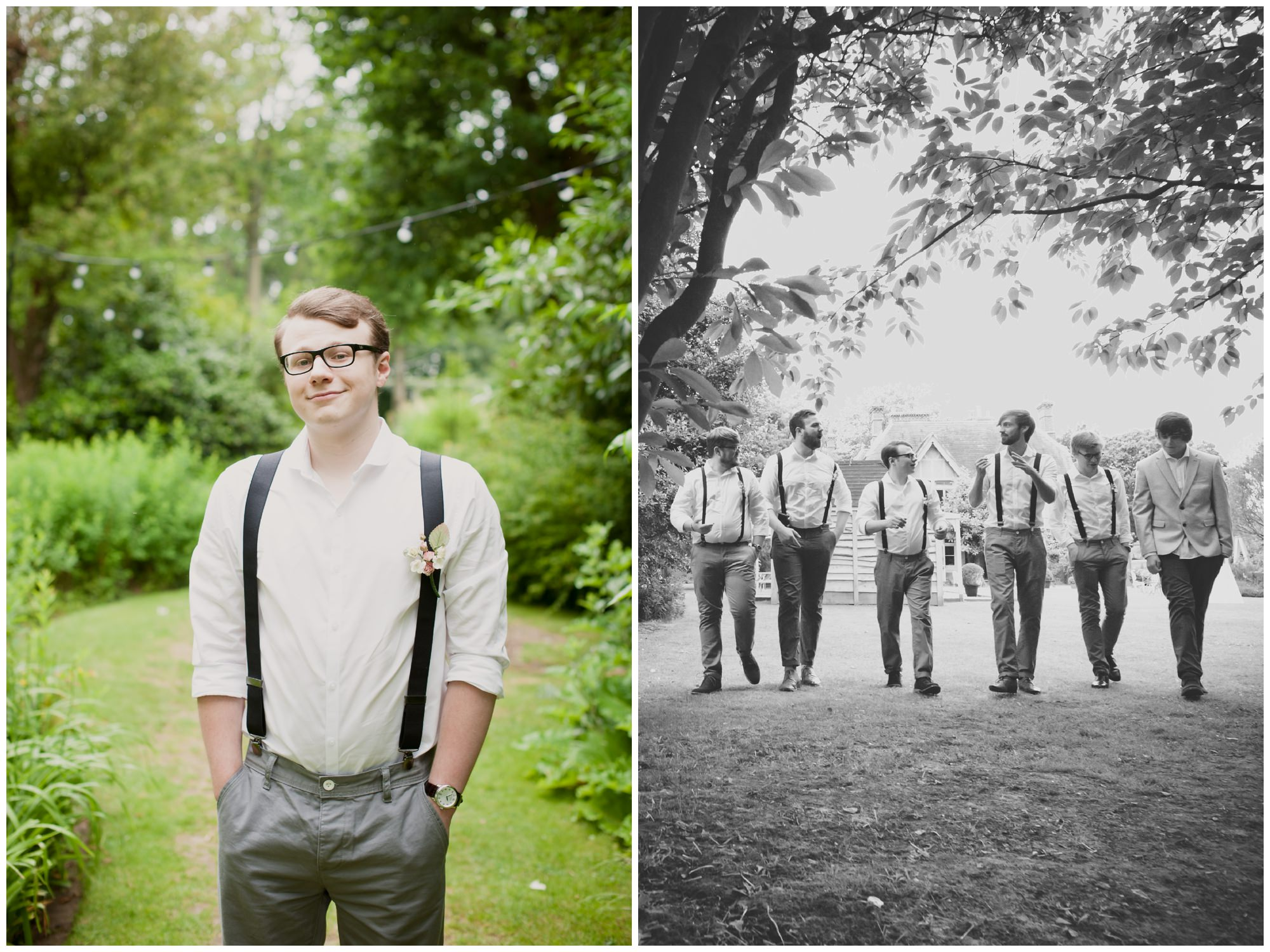Groomsmen at The Old Vicarage