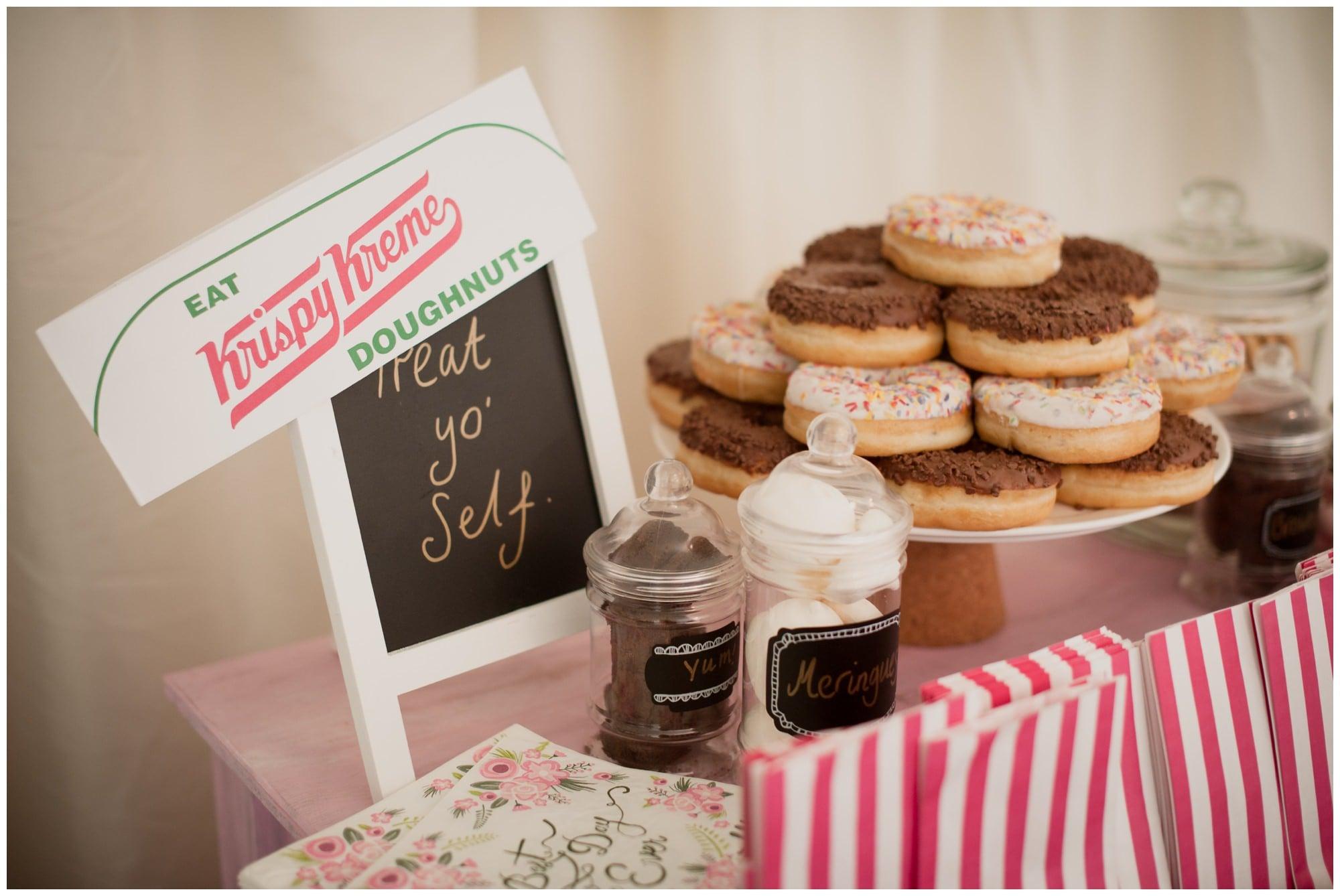 Krispy Kremes at Dorset Wedding