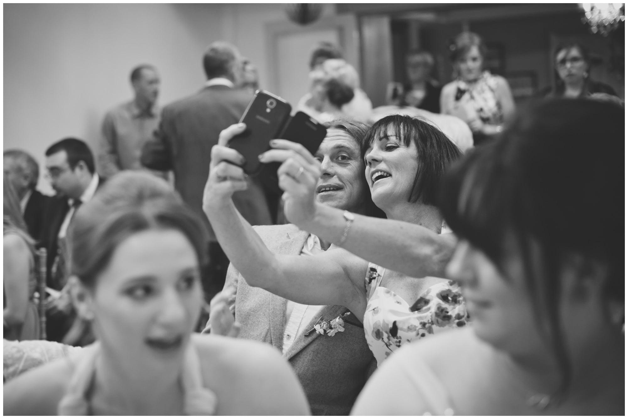 Selfie at Dorset Wedding