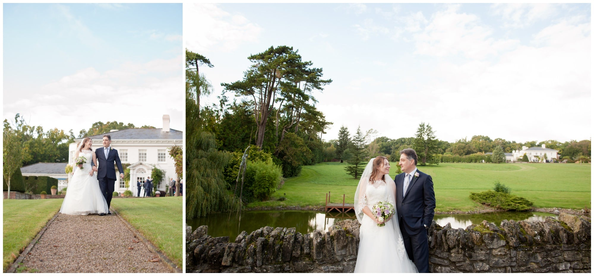 Bride and Groom at Roundwood Estate
