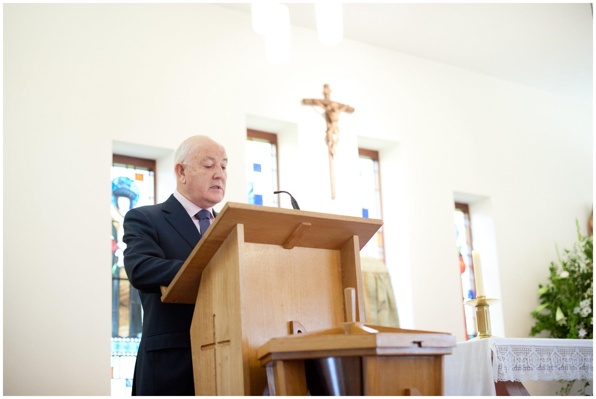 Reading at Saint John Fisher Church