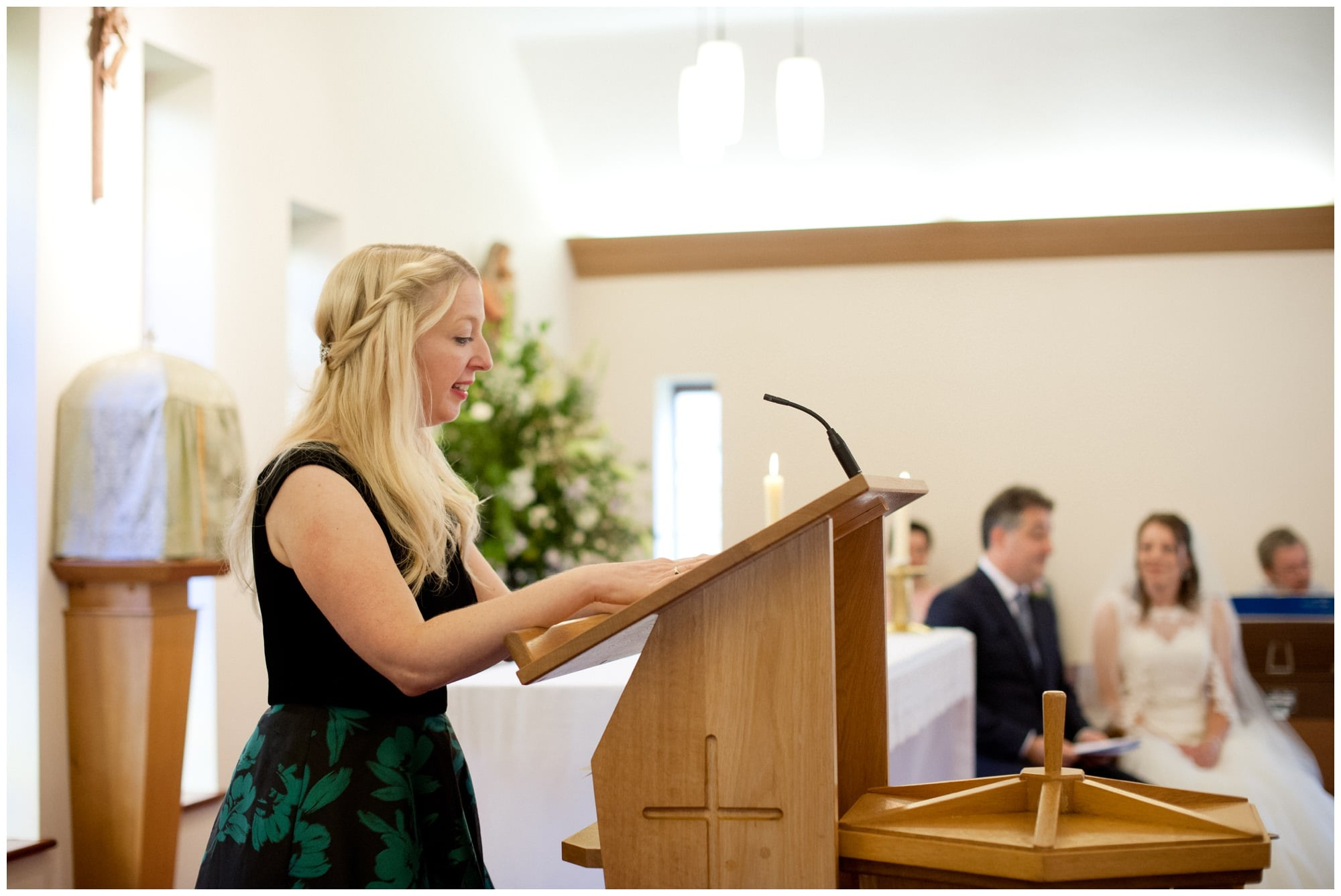Reading at Whitchurch Wedding