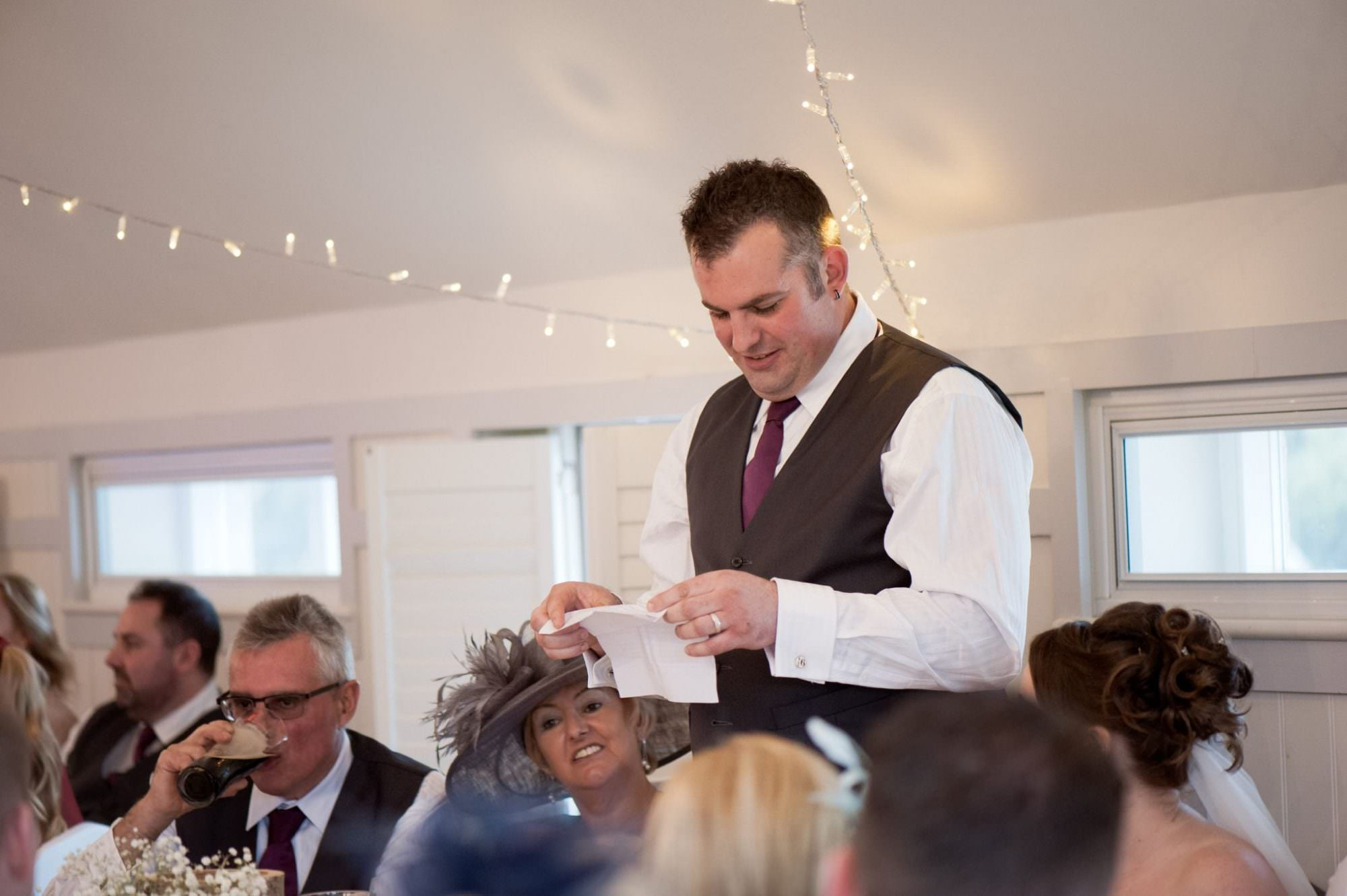 Groom's speech at Kings Arms Hotel Wedding