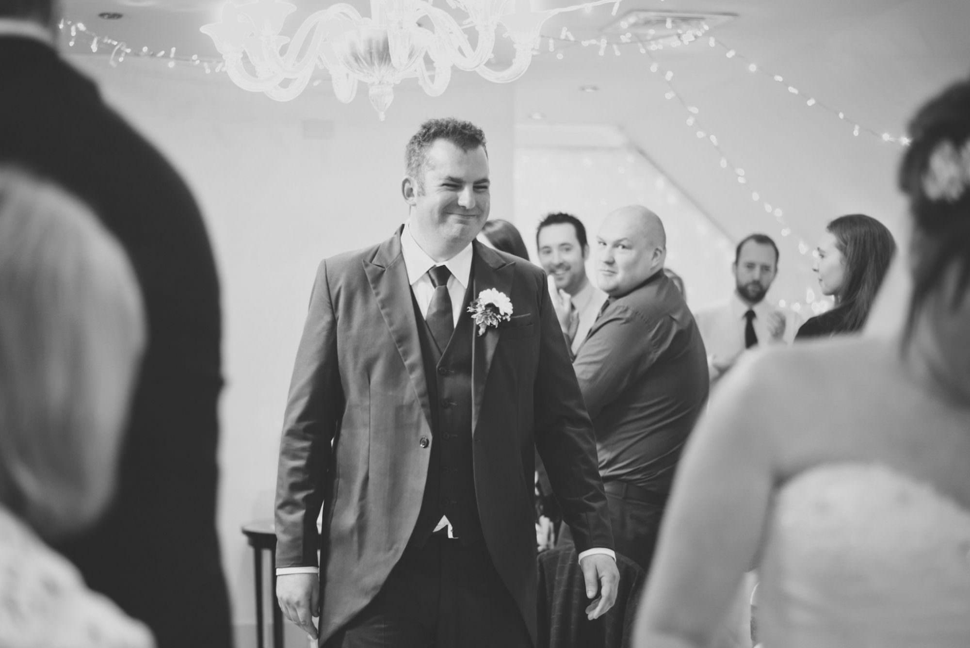 Groom at Kings Arms Hotel Wedding