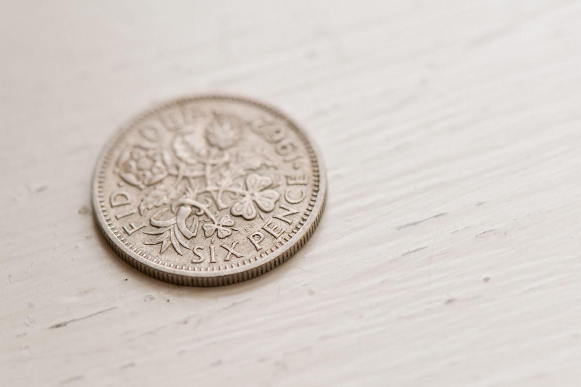 Lucky Wedding Six Pence