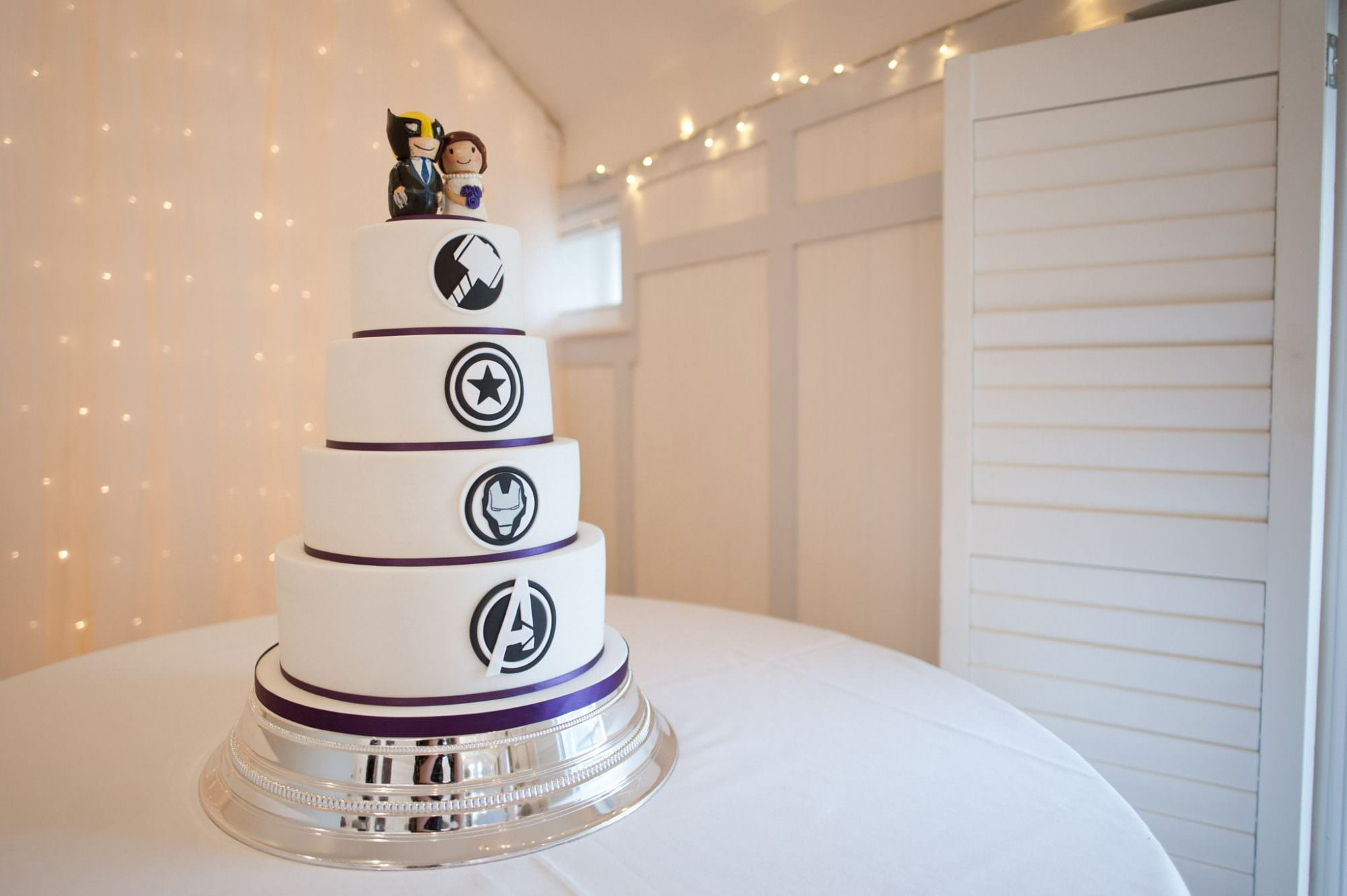 Marvel wedding cake by The Crumb Factory