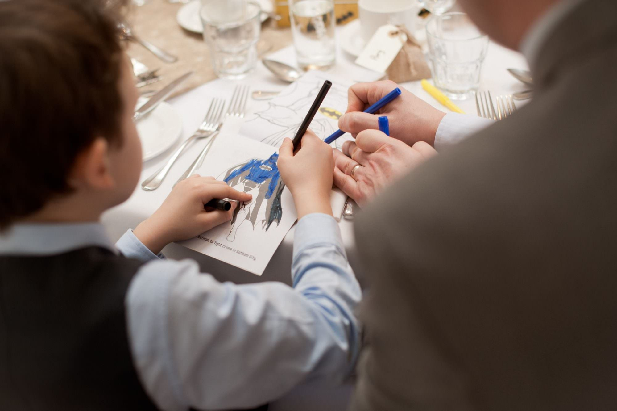 Children Colouring Book at Wedding