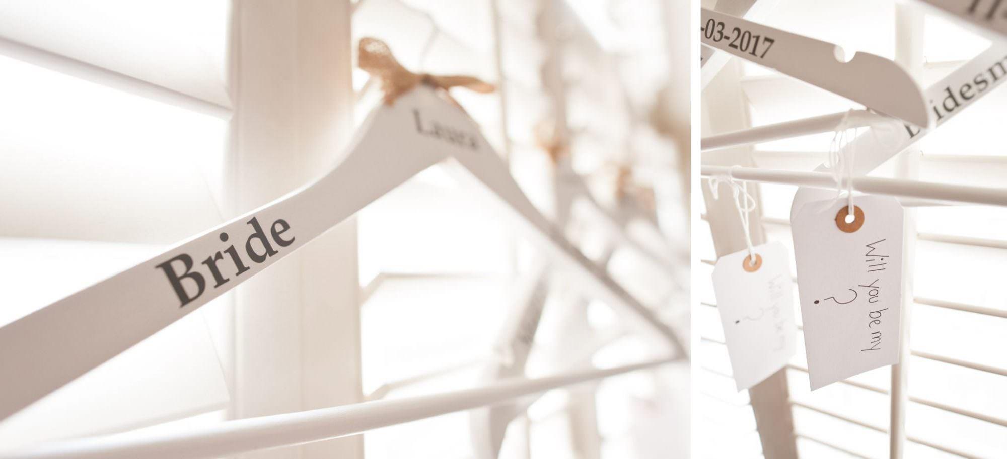 Personalised Wedding Dress Hangers in Dorset