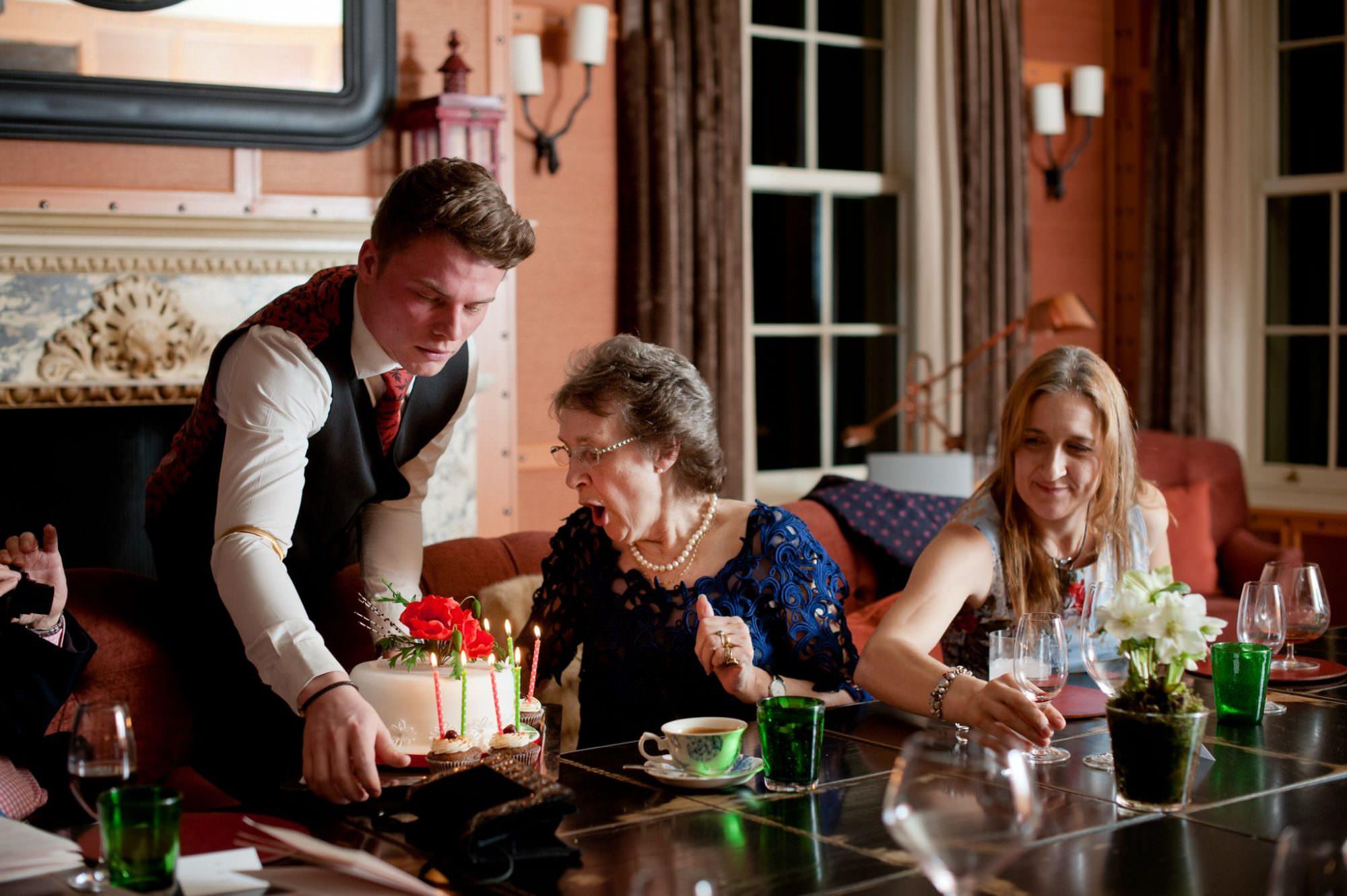 Birthday cake in Hampshire Hotel