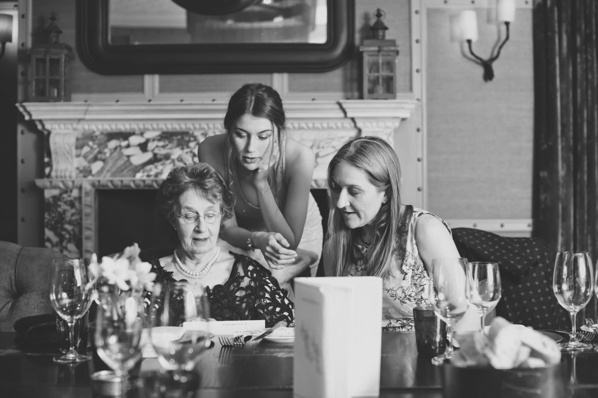 Black and white photograph at Limewood Hotel Private Event