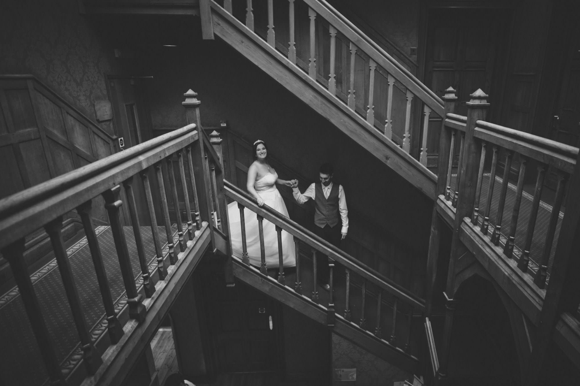 Black and White Photograph at Careys Manor Wedding