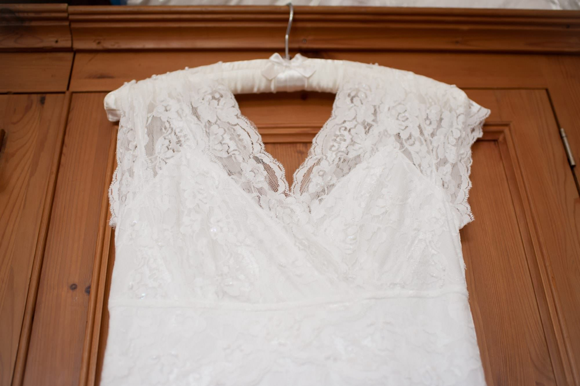 Photo of simple lace wedding dress