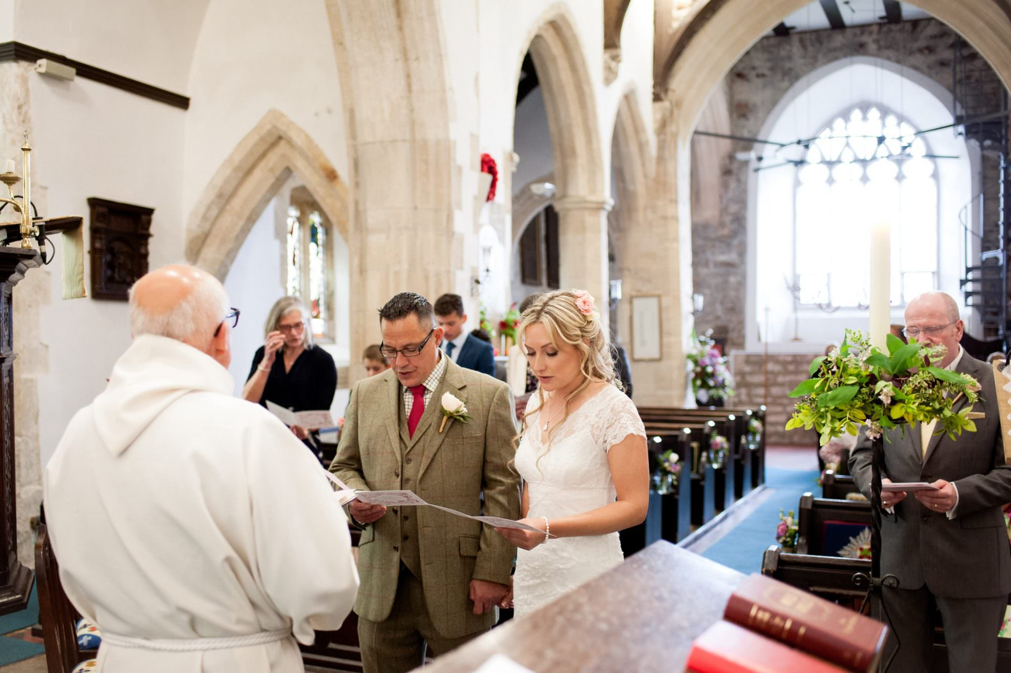 Wedding Ceremony at Sopley Church in Dorset