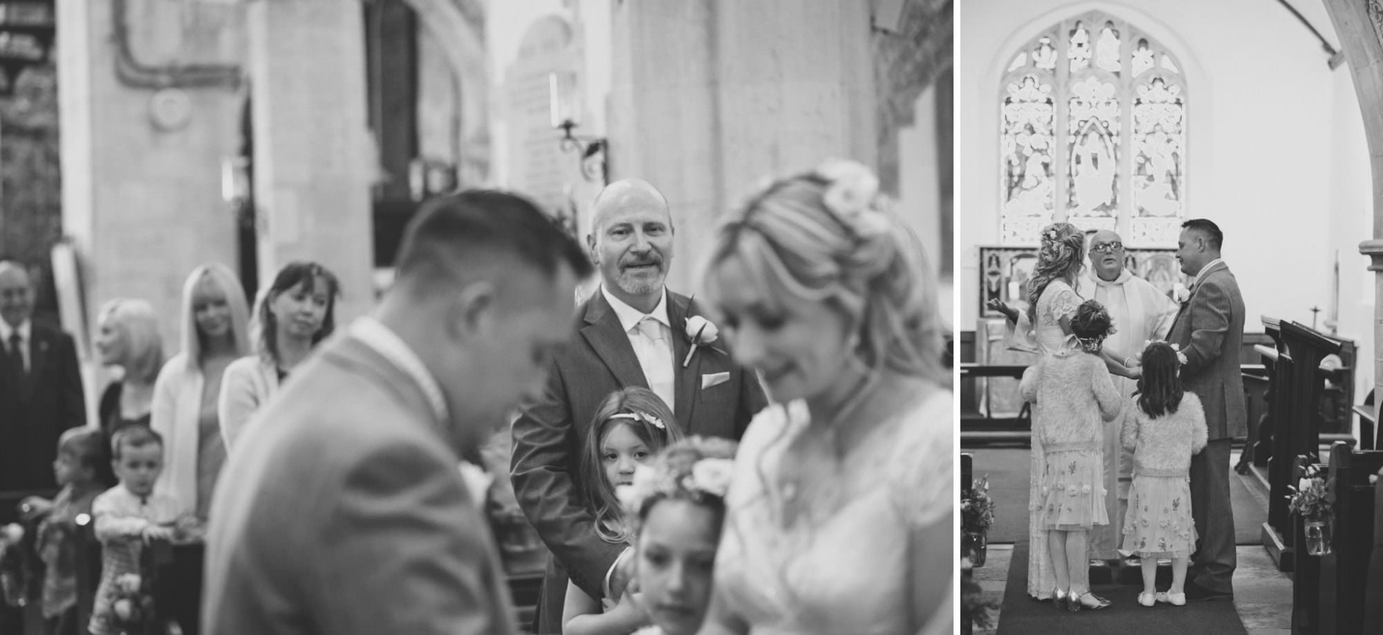 Black and white photography at Sopley Church
