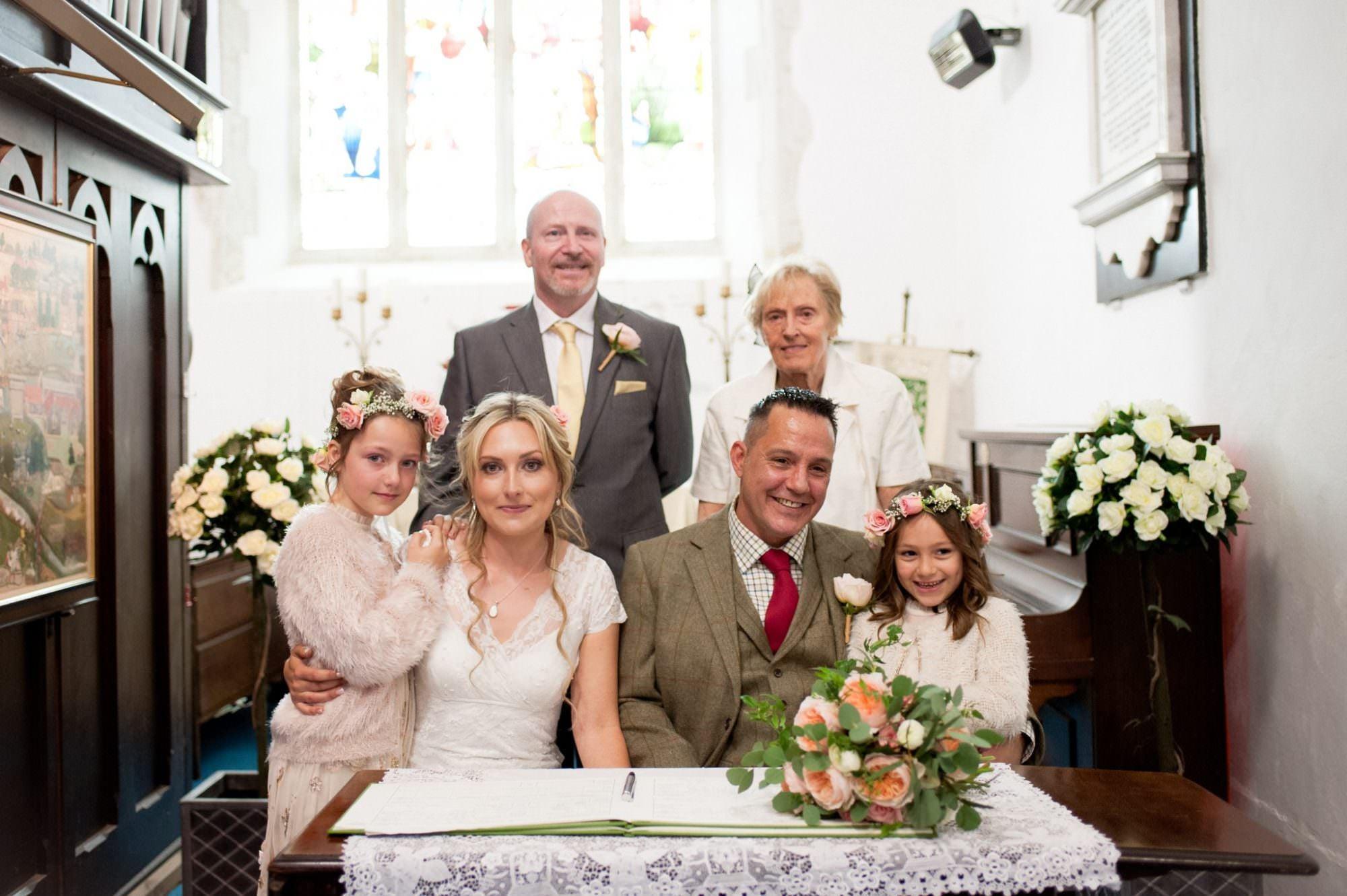 Family photograph at Sopley Church