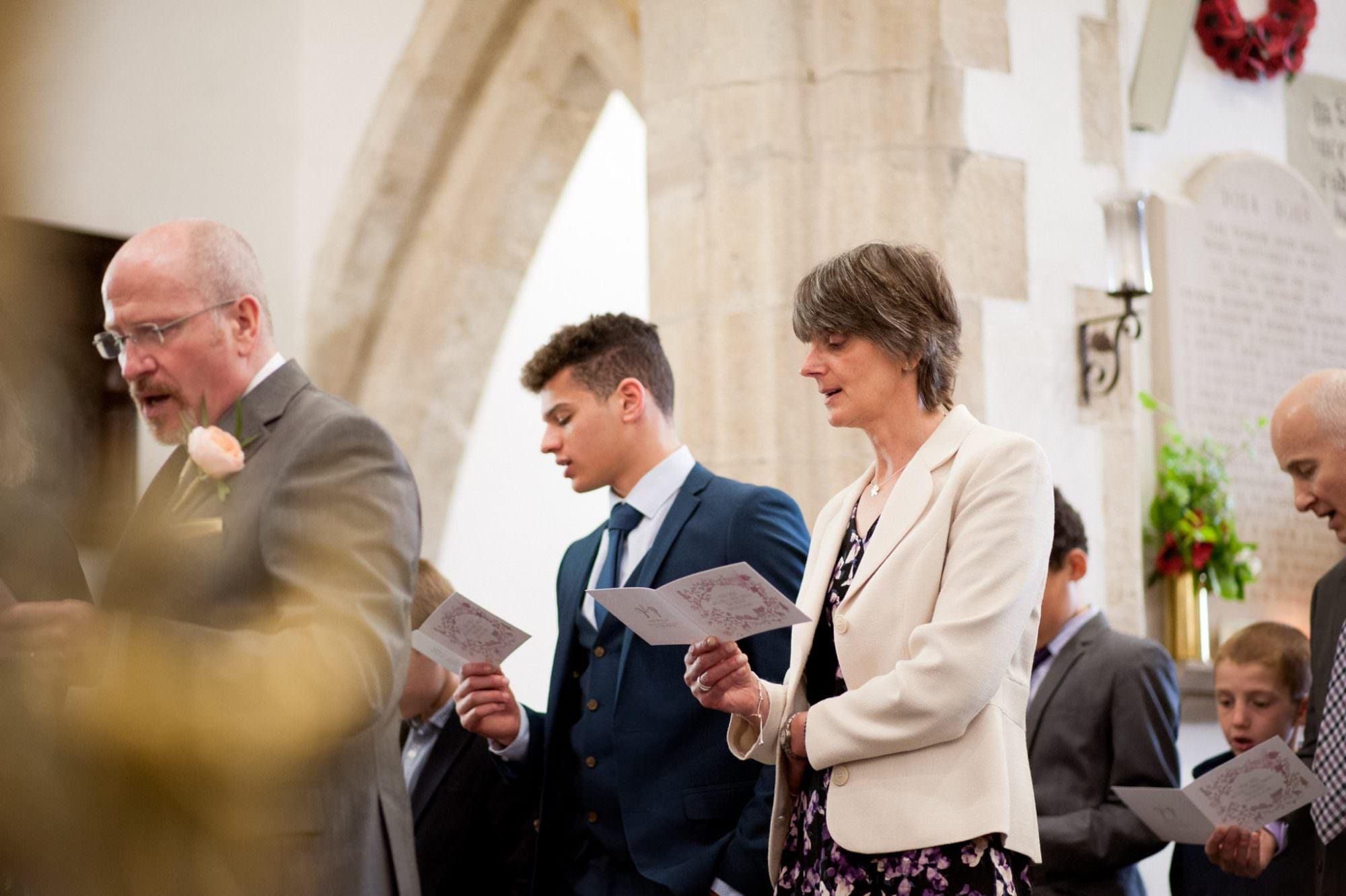 Wedding hymn at Sopley Church