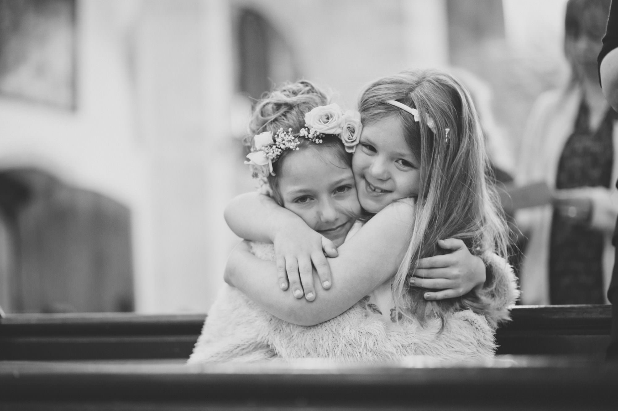 Hampshire wedding photo of young bridesmaids