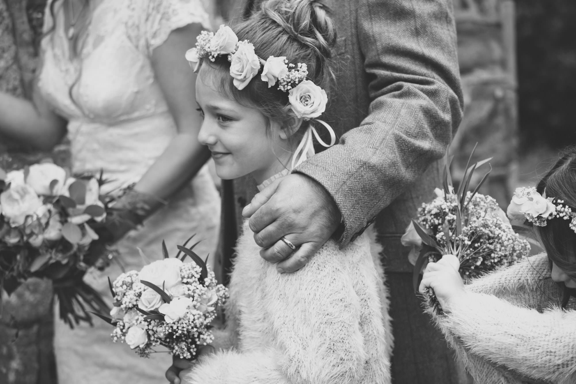 Hampshire Photography of Bridesmaid and flowers