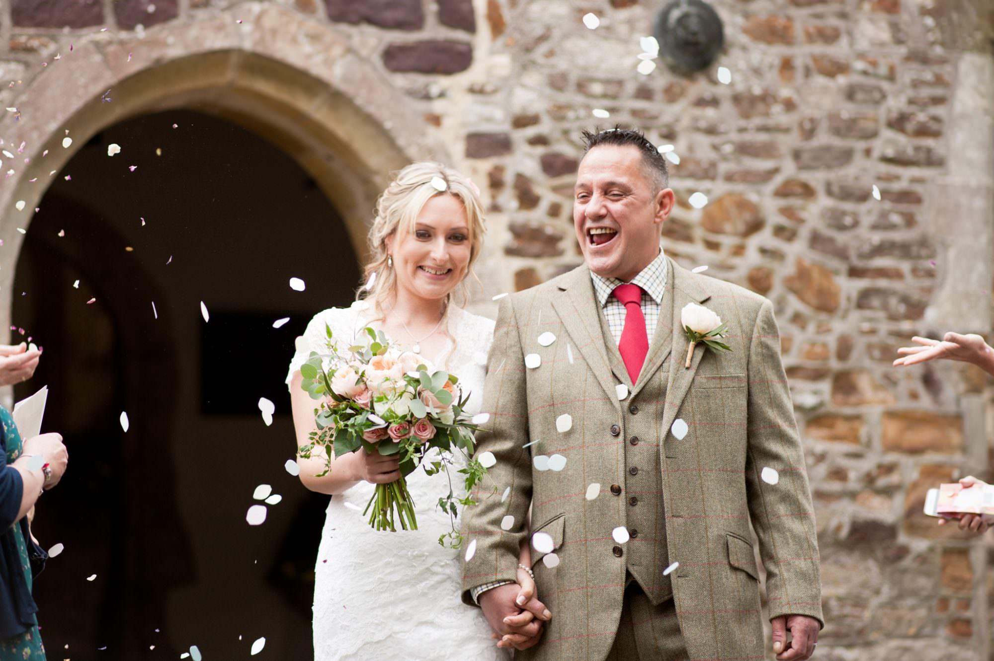 Confetti photos at Sopley Church Hampshire