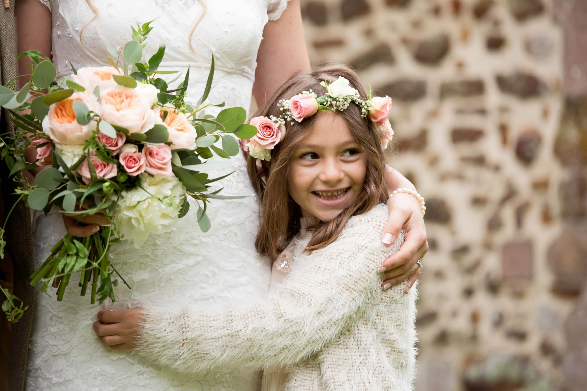Flower crown and bouquet at Sopley