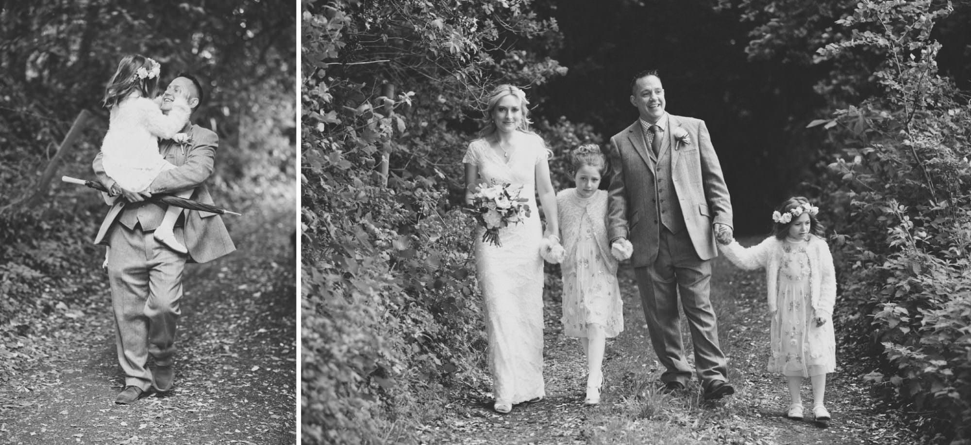 Family photograph at Sopley Wedding