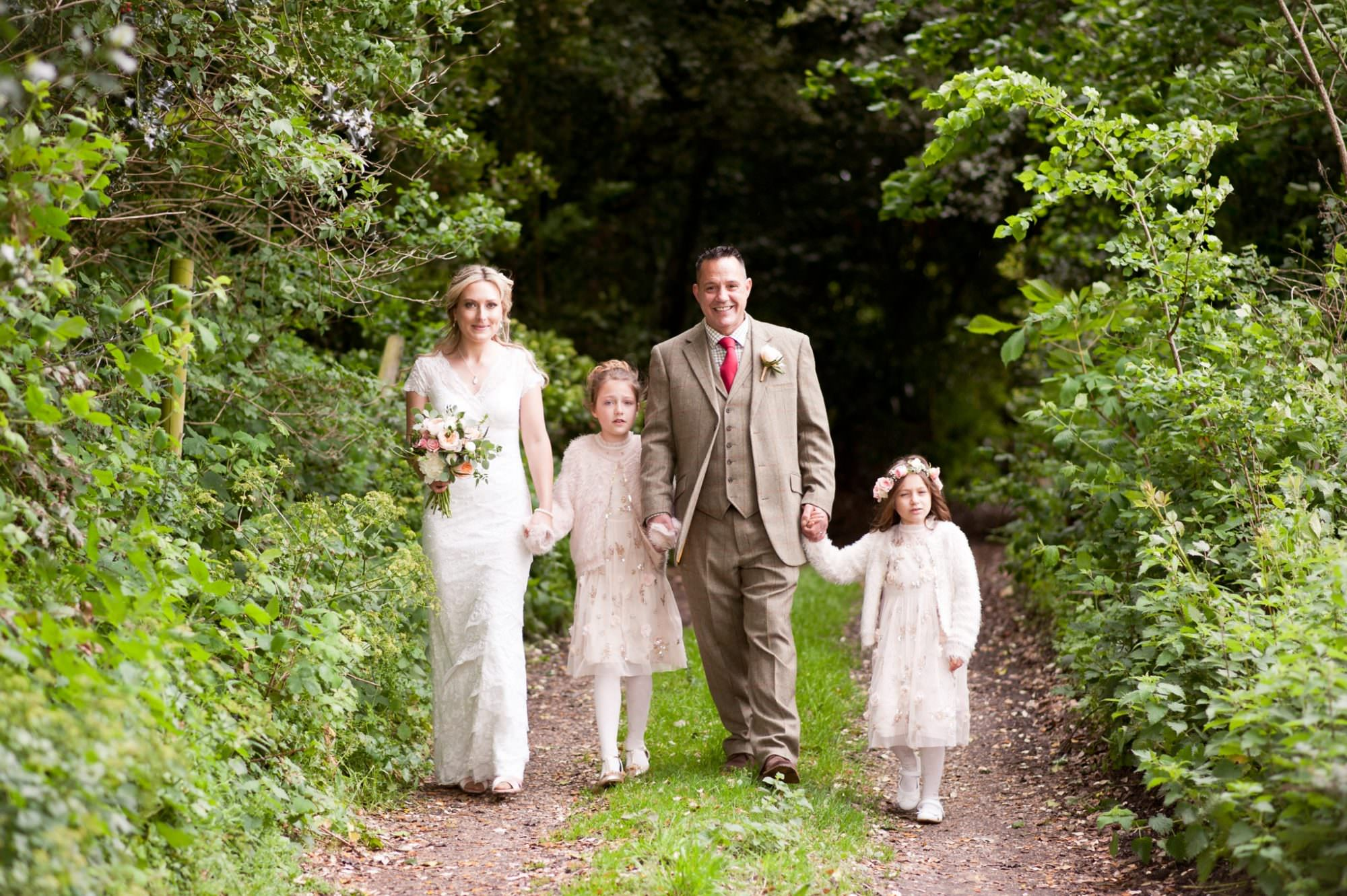 Family at Sopley Wedding