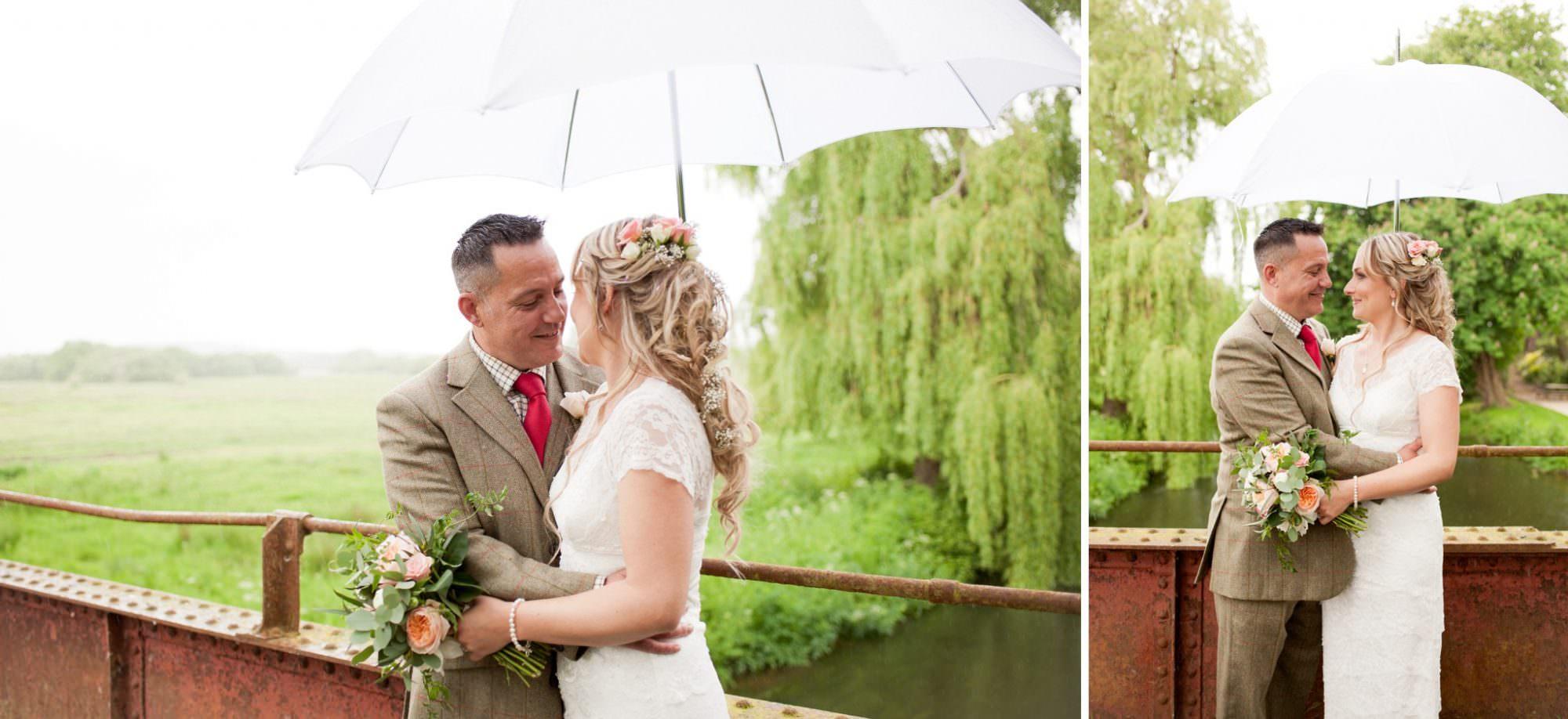 Photographs under umbrella at Hampshire