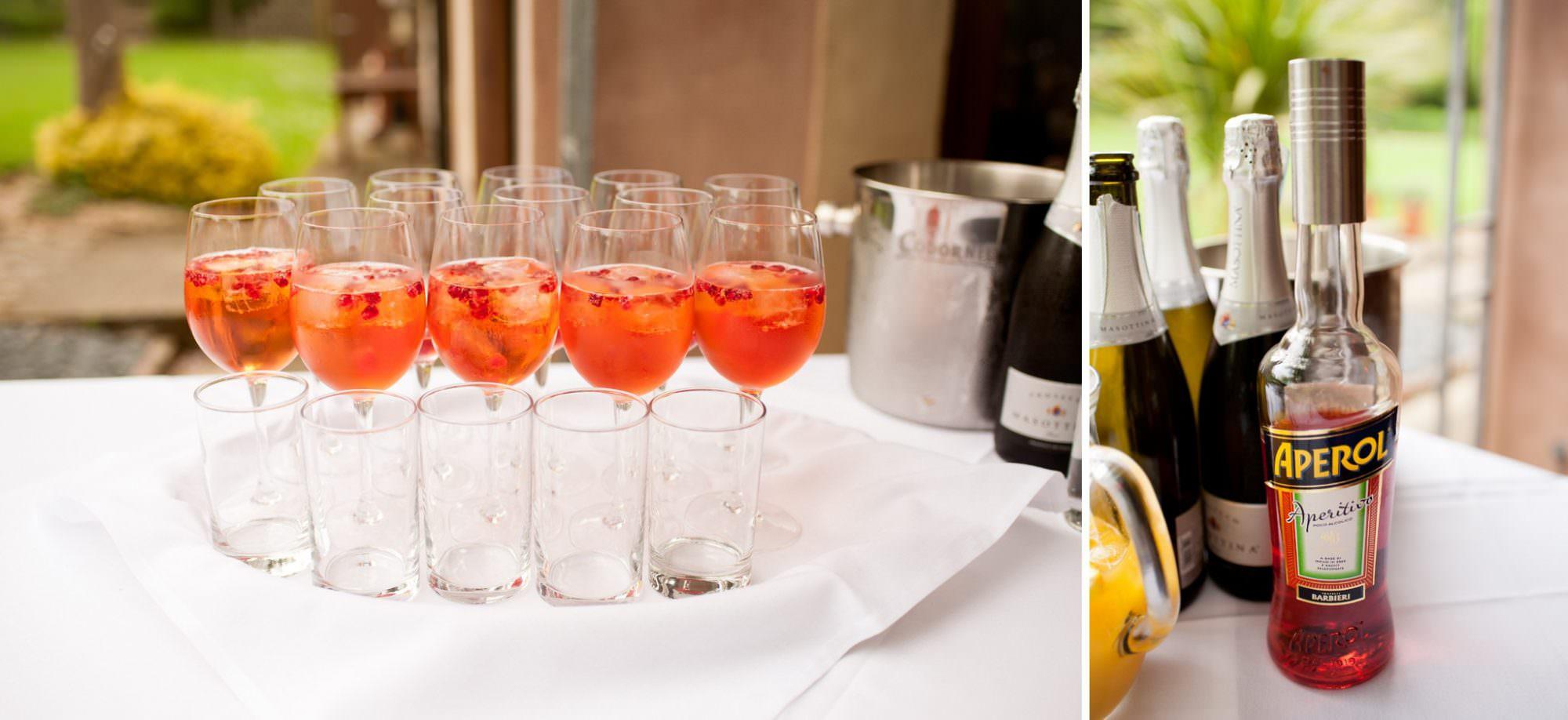 Drinks reception at Gordleton Mill