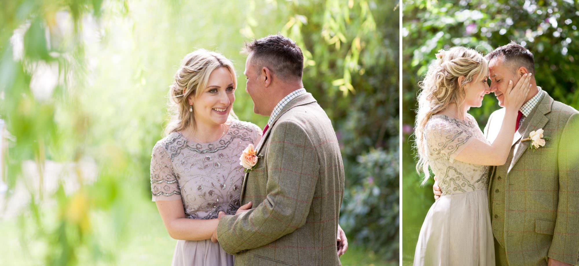 Couple photographs at Gordleton Mill