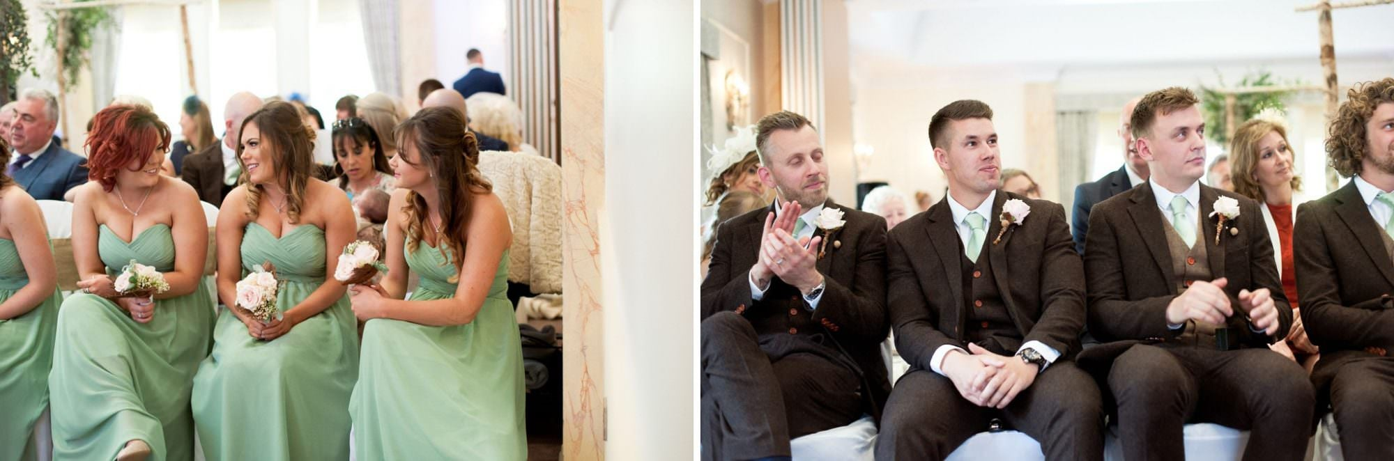 Photography of Bridesmaids and Ushers in Brockenhurst Wedding